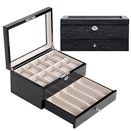 watch box Joyería para el hogar Caja de Almacenamiento integrada Materiales seleccionados Mano de Obra Fina Hermosa y generosa Caja de presentación de Relojes multifunción de Alta Gama