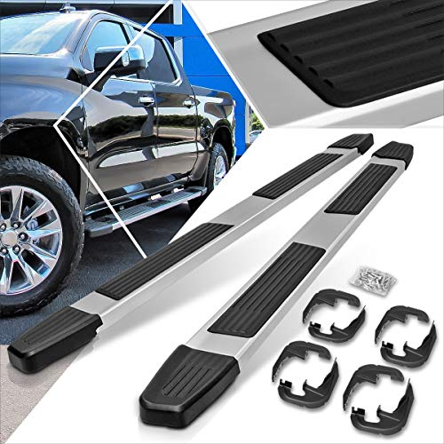 Aluminum 6 Inches Running Board Side Step Nerf Bar Compatible with Chevy Silverado/GMC Sierra 1500 Crew Cab 2019