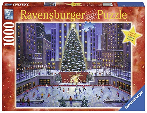 Ravensburger NYC Christmas 1000 Piece Jigsaw Puzzle for Adults – Every piece is unique, Softclick technology Means Pieces Fit Together Perfectly