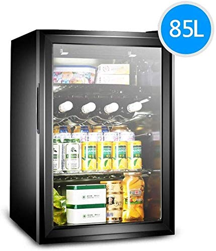 New JJLL 85L Beverage Cooler Refrigerator - Built-in or Free Standing Beverage Fridge with Glass Doo...