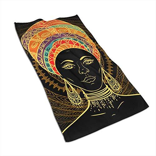 Tyueu Toalla de mano para mujer africana en turbante, toalla de mano, toalla de cocina, diseño 3D, toallas para la cocina, limpieza, cocina, hornear, lavavajillas toalla de 15.6 x 27.5 pulgadas