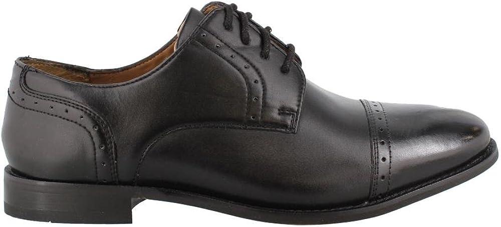 Florsheim Mens, Saluzzo Cap Lace up Oxfords Black