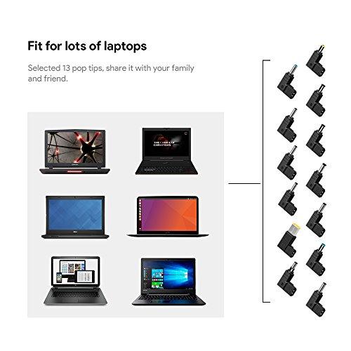 TÜV HKY 65W Laptop Universal Netzteil Ladekabel für Acer Dell Fujitsu Siemens LG Lenovo Toshiba Medion HP ASUS Asus UX305CA X401 X401A X401U X501 Lenovo Flex 4 Ideapad 710s 510s 510 310 110 100 110s