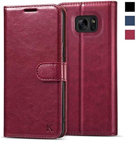 KILINO Galaxy S7 Edge Wallet Case PU Soft TPU RFID Blocking Shock Absorbent Bumper Card Slots product image