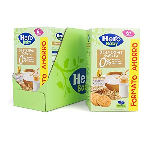 Baby   Papilla de 8 Cereales con Galleta sin Azúcares Añadidos, para Bebés a Partir de los 6 Meses   Pack de 3 x 820 g