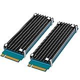 glotrends [2 Packs] M.2 Disipador térmico para 2280 M.2 SSD con Almohadilla térmica de Silicona