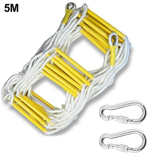 jinclonder Emergency Fire Escape Rope Ladder Mit Haken, Nylonleiter für Flucht, Kinderspiel, Katastrophen, Evakuierung, Rettungsaktionen und Wandreparaturen für Kinder und Erwachsene