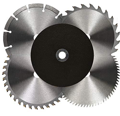 Juego de hojas de sierra para sierra circular manual, 150 x 16 mm, 1,6 mm de grosor (metal, plástico, madera/disco de corte de diamante)