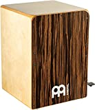 Meinl Bass Cajon Box Drum with Foot Activated Snare Switch - NOT MADE IN CHINA - Ebony Frontplate / Baltic Birch Body, 2-YEAR WARRANTY (JBC6EY)