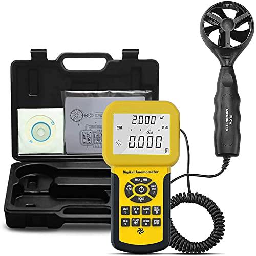 Anemometro Digitale Anemometro Portatile CFM PRO Misuratore di velocità del Vento HVAC con Retroilluminazione Funzioni Max/Min/Media per La velocità del Vento velocità dell'Aria CFM Misuratore