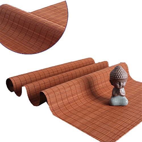 Unbekannt Tischläufer Tabelle Flag im japanischen Stil Leinen Tischläufer - Lange Bambus-Rolle for Tee-Tabelle, Veranda, Konferenztisch,...
