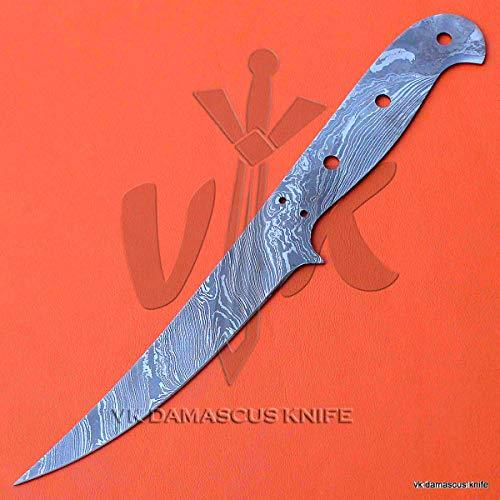 VK4035 Handmade Damascus Steel Fillet Knife Blank Blade Professional 10.25 Inches
