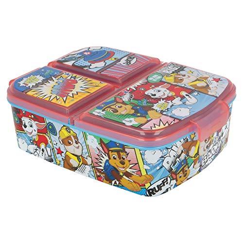 PAW PATROL | Brotdose mit 3 Fächern für Kinder - Kids Sandwich Box - Lunchbox - Brotbox BPA frei