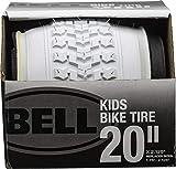 Bell 7091034 Kids Bike Tire, 20' x 1.75-2.25', White