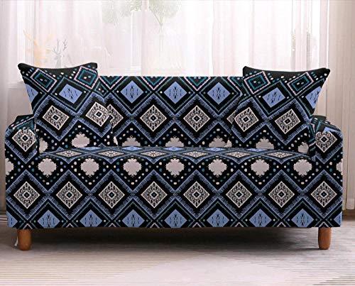 Chaise Longue Funda Estampada de Sofá,Funda de cojín para sofá de decoración del hogar, Funda Protectora elástica para sofá,-5_4 plazas 235-300cm