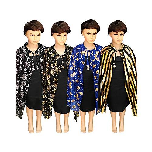 Wizard gewaad - kinderen Cosplay Halloween pompoen spin web streep kostuums mantel heks tovenaar Masquerade partij - decoraties partij decoraties Wizard gewaad Tutu pompoen Lelouch A4