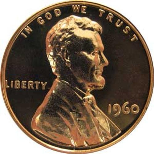 1960 (LARGE DATE) P Gem Proof Lincoln Memorial Cent US Coin Penny