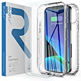 RAXFLY Compatible with for iPhone 12 Pro Max Case with 2 Pack Screen Protector 6.7 inch Designed for iPhone 12 Pro Max Case 360 Full Body Protective Shockproof Cover Clear