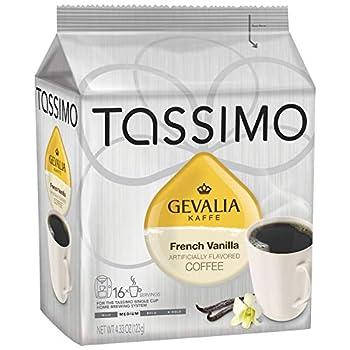 Gevalia French Vanilla Medium Roast Coffee T-Discs for Tassimo Brewing Systems  16 T-Discs