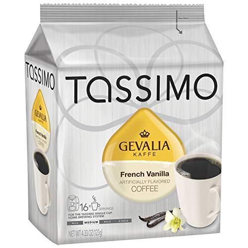 Gevalia French Vanilla Medium Roast Coffee T-Discs for Tassimo Brewing Systems (16 T-Discs)