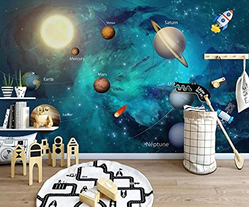 3D-behang zonnestelsel landschap aangepast fotobehang kunst ontwerp slaapkamer kantoor woonkamer tv muur achtergrond…