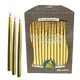 Lote de 45 velas artesanales Ner Mitzvah, para Janucá, 14 cm