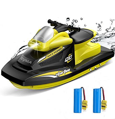 SYMA RC Boot 2.4GHz Fernbedienung Schnell Boot Spielzeug Q10 Boot mit Starker Kraft Geschenk für Anfänger und Kinder