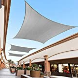 Royal Shade 16' x 16' Gray Square Sun Shade Sail Canopy Outdoor Patio Fabric Shelter Cloth Screen...