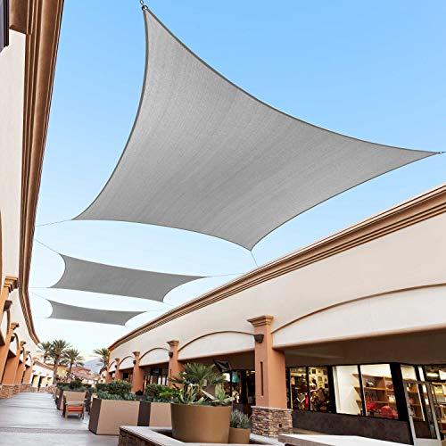 Royal Shade Toldo de Tela Rectangular Gris de 8 pies x 12 pies, toldo para toldo para Exteriores – 95% de protección UV, 200 g/m², Resistente, 5 años de garantía, Hacemos tamaño Personalizado