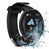 Reloj inteligente D18 Bluetooth, unisex, presión arterial, monitor de ritmo cardíaco, podómetro, correa inteligente para Android e iOS