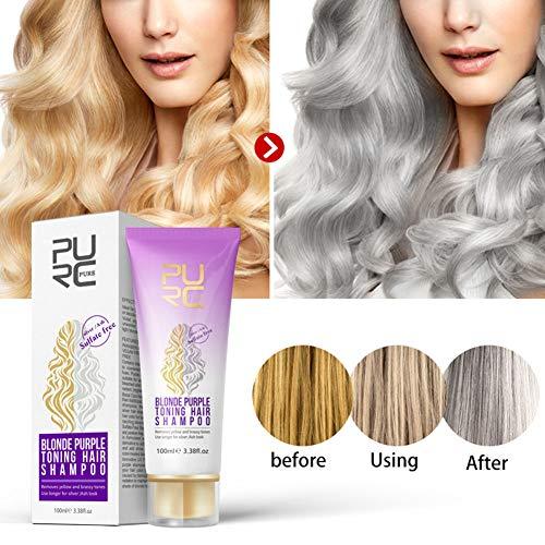 Metermall New for Blonde Purple Toning Hair Shampoo Blonde Shampoo Gray Silver Shampoo Long Lasting Hair Dye Color Treatment Shampoo