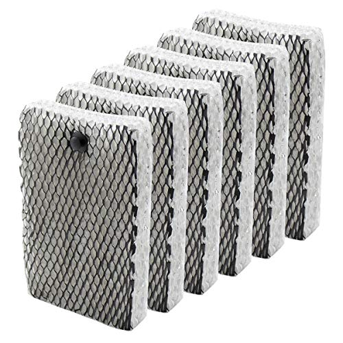 Funmit Humidifier Wick Filter Replacement Filter E for Holmes HWF100 Bionaire BWF100 Sunbeam SF235 Series Humidifier (6 Pack)
