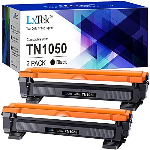 LxTek Compatibili Toner Sostituzione per Brother TN1050 per HL-1110 HL-1210W HL-1112 HL-1212W DCP-1510 DCP-1512 DCP-1610W DCP-1612W MFC-1810 MFC-1910W (Nero, 2-Pack)