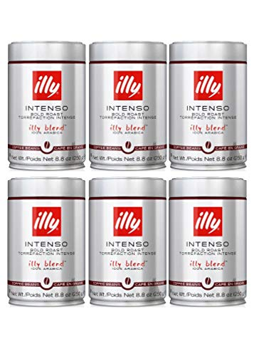 illy - Whole Bean Coffee - Bold Roast - 8.8 oz (250g) - Case Pack of 6