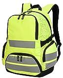 Hi Vis SH7702 Shugon London Pro Hi-Vis Backpack Bag Adjustable Padded Shoulder Straps and Webbed Carrying Handle (Hi Vis Yellow)