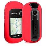 kwmobile Funda Compatible con Garmin eTrex 10/20/30/201x/209x/309x - Carcasa de Silicona para navegador GPS - Cover Rojo