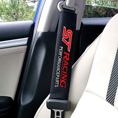 NA Almohadillas de Hombro del cinturón de Seguridad del Coche 2pcs Almohadilla de la Cubierta del cinturón de Seguridad para Ford Focus 2 3 ST Racing Fiesta EcoSport Escort
