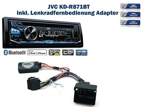 JVC KD-R871BT inkl. Lenkrad Fernbedienung Adapter Diverse Citroen ab Bj. 2004