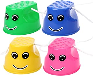 TOYANDONA 4PCS Bucket Stilts Walking Cups Funny Outdoor Balance Training Walking Stilts Sports Toy for Classic Kids Party,...