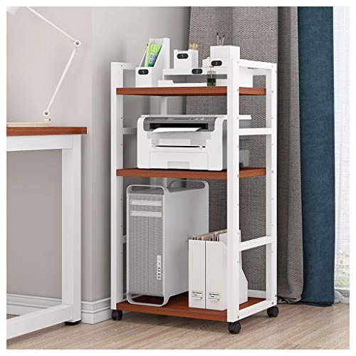 OMING Printer Stand Shelf Desktop Printer Stand Multi-layer Movable Desktop Chassis Racks Printing Copying All-in-one Rack as Storage Shelf, Book Shelf Printer Riser (Color : G)