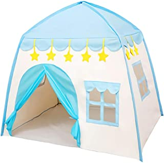 Kids Playhouse Tent - Soft Oxford Fabric Big Play House with 3 Mess Windows, Comes with Storage Carrying Bag, Indoor Outdo...