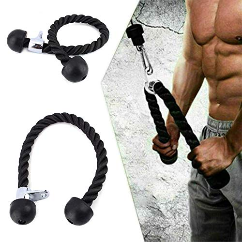 SunshineFace Tricep Rope, Pull Press Down Push Pull Cord Multi Gym Lat...
