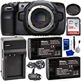 Blackmagic Design Pocket Cinema Camera 6K with SanDisk Ultra 128GB SDXC Memory Card (UHS-I/Class-10) + 2X Extended Life LP-E6 Replacement Batteries (2700mAh / 20.0Wh) with Battery Charger + More