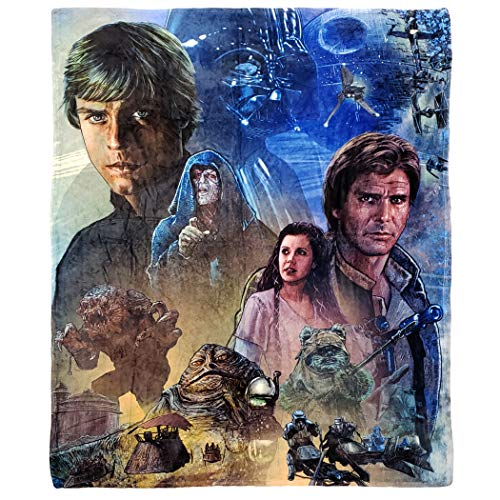 Disney Star Wars Return of The Jedi Überwurfdecke, 127 x 152,4 cm, Mehrfarbig