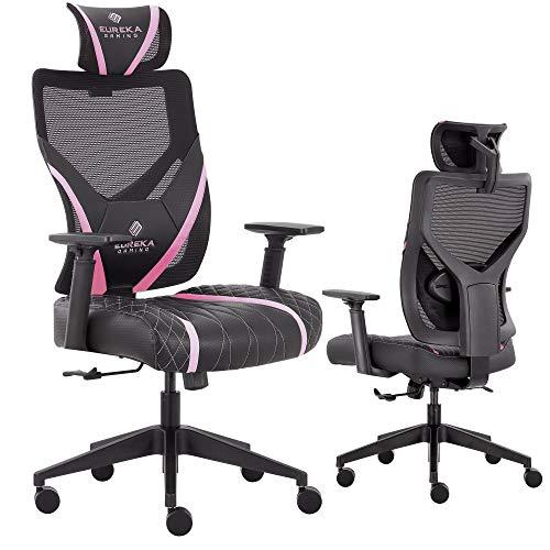 Video Game Chair GE300, Black & Pink