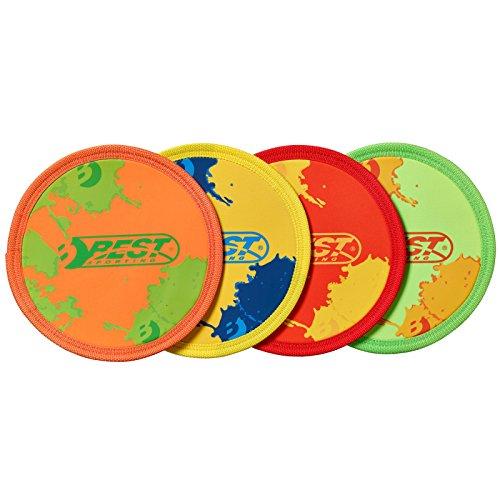 Best Sporting Neopren Wurfscheibe Disc, Farbe:rot/gelb
