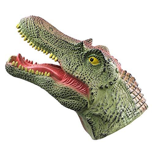 AKlamater Guantes de dinosaurio de mano con diseño de animales realistas para aumentar la interacción entre padres e hijos (Hadrosaurus)