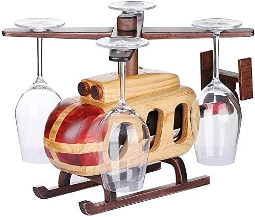 GLYYR Weinregal Tabletop-Wein-Rack Horizontale Weinflaschen Halter Racks Kreative Holzweinhalter Lagerung Freistehend