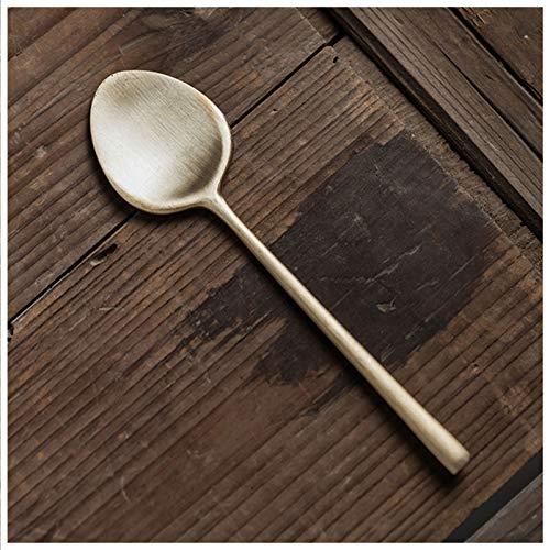 Cuchara de sopa asiática Coloque la cuchara de acero inoxidable de la cuchara de acero inoxidable de la hoja de la hoja de oro adecuado para la cuchara de la cuchara de té de hielo de la leche Cuchara