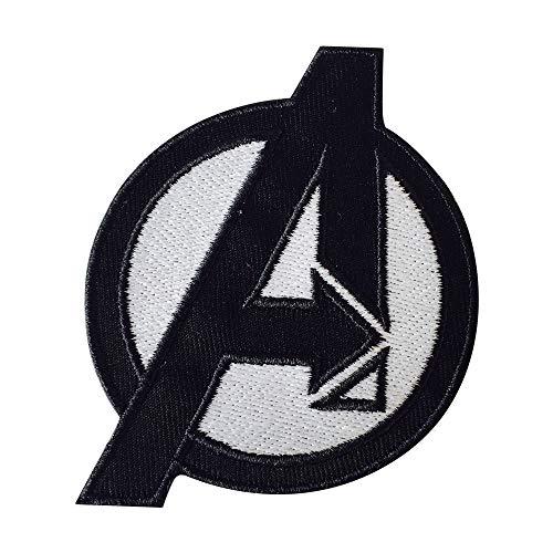 Patch zum Aufnähen oder Aufbügeln, Motiv: Avengers-Logo, Größe: 7,5 x 9cm